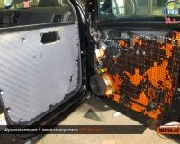 Шумоизоляция дверей VW Amarok